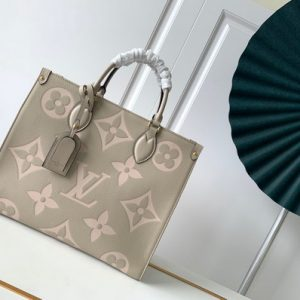 LV M45494 Louis Vuitton ONTHEGO MM Bag M45495 Cream and Beige